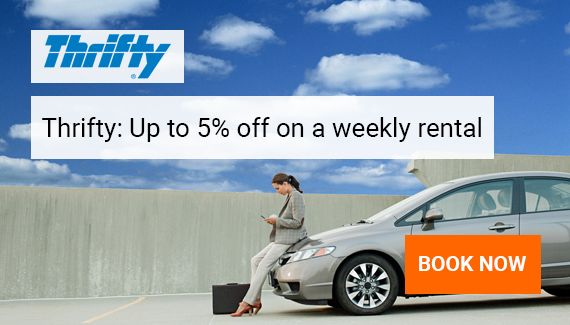 Thrifty: Up to 5% off on a weekly rental