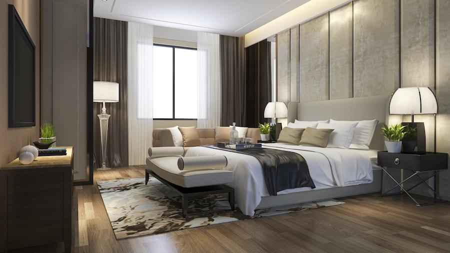 modern hotel room background image